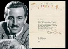 "Walt Disney TLS Re: Exhibition of ""Fantasia"" for"