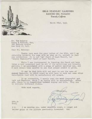 Perry Mason Creator Erle Gardner TLS