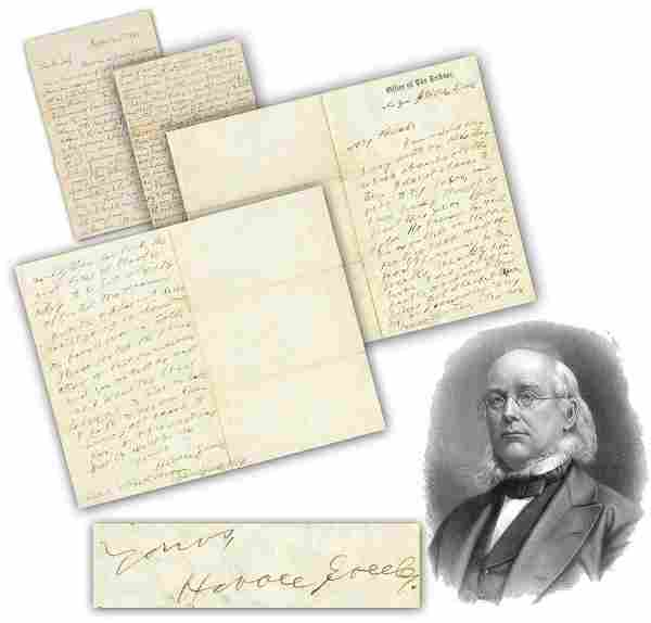 Horace Greeley ALS Re: Accusations that he Neglected