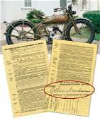 Davidson signed Harley-Davidson 1926 MA Dealership