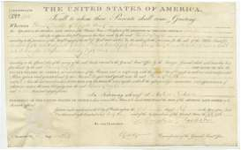 Andrew Jackson Superb Land Grant With Large Signature