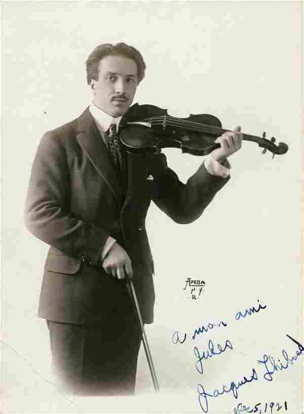 Jacques Thibaud, French Violinist, SP