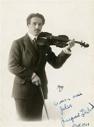 Jacques Thibaud French Violinist SP
