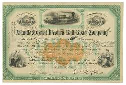 McClellan Signed Railroad Stock Certificate for the