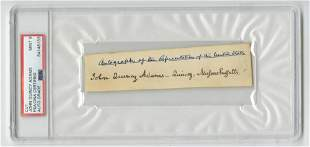 John Quincy Adams Signature, PSA/DNA Encapsulated and