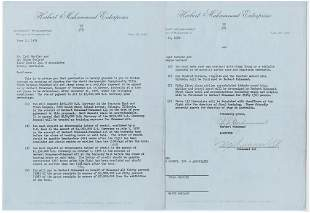 Muhammed Ali Signed 1976 Fighting Contract