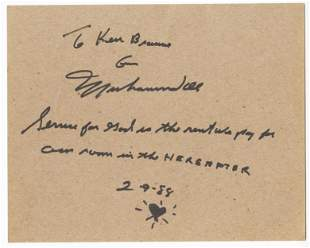 Muhammad Ali Philosophical Signed Quote, with Great