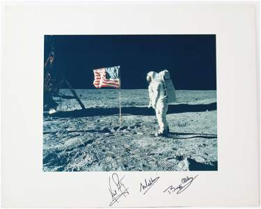 Neil Armstrong, Buzz Aldrin, and Michael Collins Signed