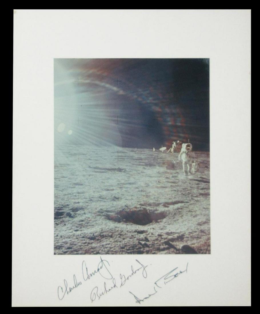 Apollo 12 Large NASA Photo Signed by Conrad, Gordon,