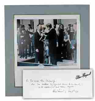 Alan Shepard Signed Kennedy Print with Zarelli L.O.A.