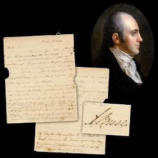 Aaron Burr ALS Re Mary Wollstonecraft British