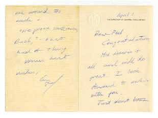 George HW Bush Nice ALS to Important Diplomat Habib