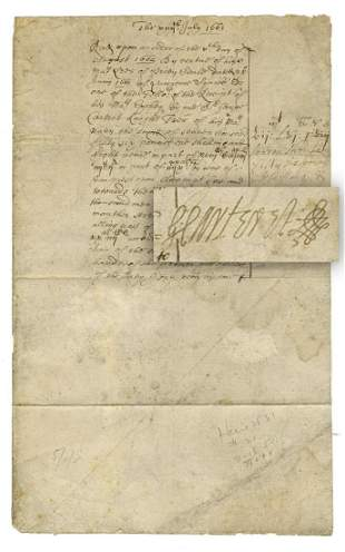 George Carteret Rare 1663 DS in the Midst of His Rise