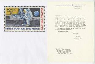 Michael Collins Reports that First Man on the Moon