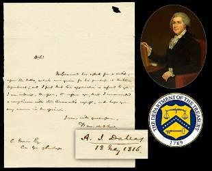 Alexander J Dallas US Secretary of Treasury ALS
