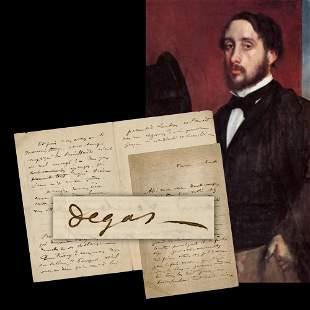 Edgar Degas ALS Stalling Art Patron Never truly can
