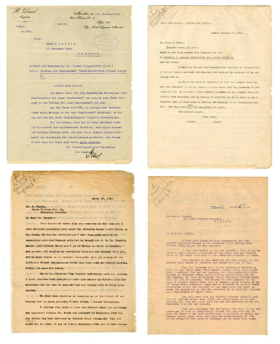 Rare Rudolf Diesel Archive, Inventor of the Diesel