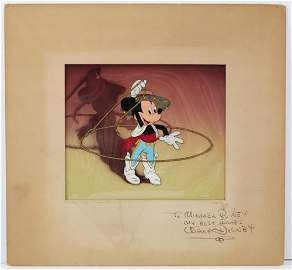 Disney Signed Mickey Mouse Courvoisier Animation Cel &