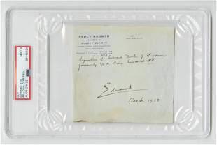 Edward VIII Signature PSADNA Encapsulated and Graded