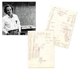 Richard Feynman Incredible Mathematical Manuscript on