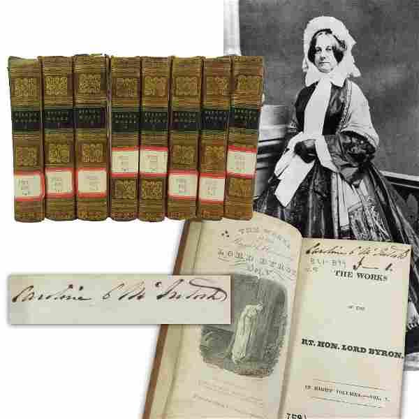 Caroline Fillmore Signed Set of 8 Diminutive Books,