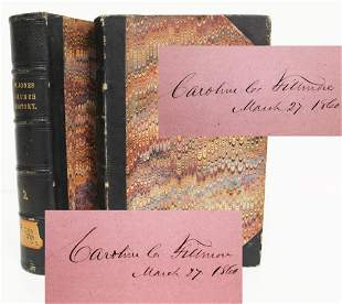 Millard Fillmore Signs For his Wife Twice on a Book