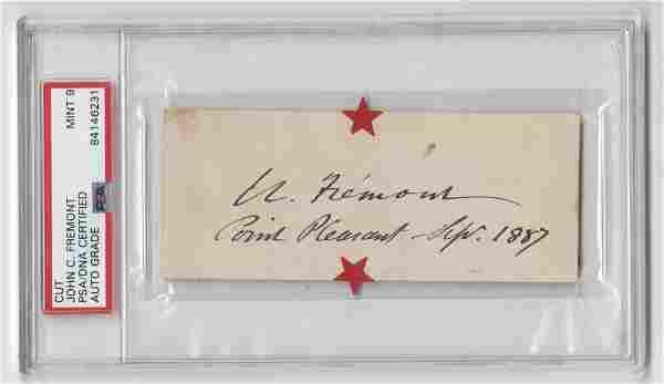John C. Fremont Signature, PSA/DNA Encapsulated and
