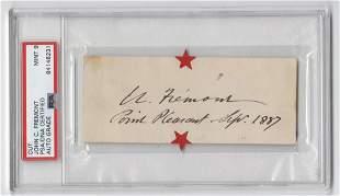 John C Fremont Signature PSADNA Encapsulated and