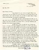 Manhattan Project Film Letter to Groves by Producer