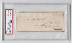 Mathew C. Perry Signature, PSA/DNA Encapsulated and