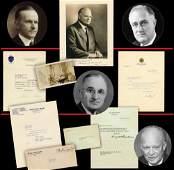 Coolidge, Hoover, FDR, Truman, & Eisenhower Signed