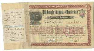 Andrew Mellon Signed 1899 Railroad Stock Certificate