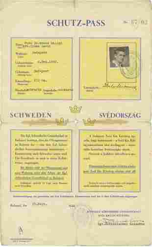 Exceedingly Rare SchutzPass Initialed by Swedish