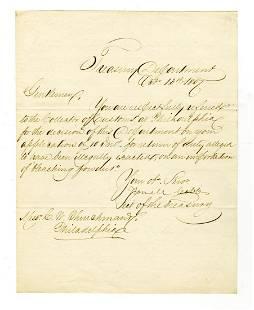 Howell Cobb as Secretary of the Treasury