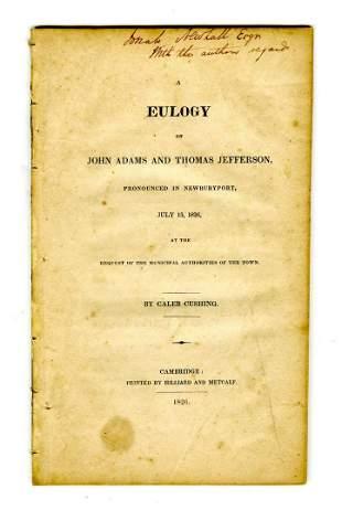 Caleb Cushing Eulogizes Founding Fathers John Adams and