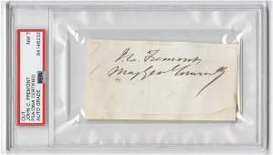 John Fremont Signature with Rank, PSA/DNA Encapsulated