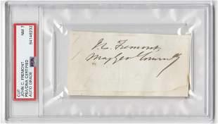 John Fremont Signature with Rank PSADNA Encapsulated