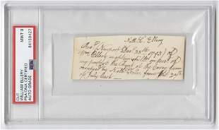 Declaration Signer William Ellery Autograph Document