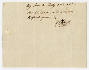 Declaration Signer William Floyd Uncommon AL