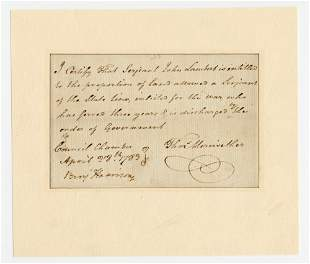 Declaration Signer Benjamin Harrison Superb DS