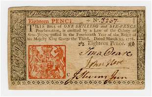 Declaration Signer John Hart 1776 Signed Currency --