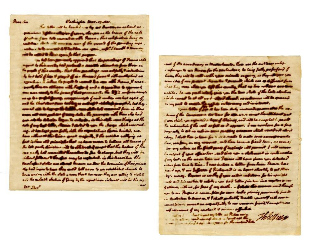 Declaration Signer Thomas Jefferson Fantastic Letter