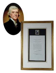 Declaration Signer Thomas Jefferson Pristine 2nd