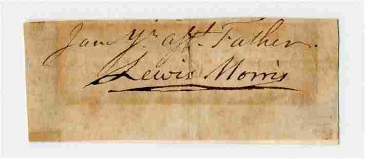 Declaration Signer Lewis Morris Bold Signature