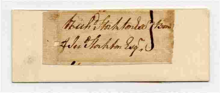 Declaration Signer Richard Stockton Superb Signature