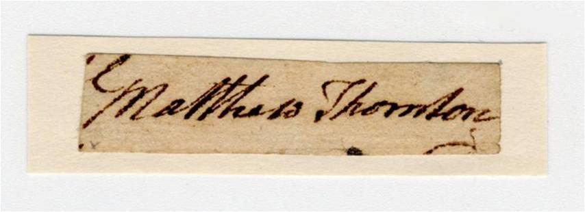 Declaration Signer Matthew Thornton Bold Signature