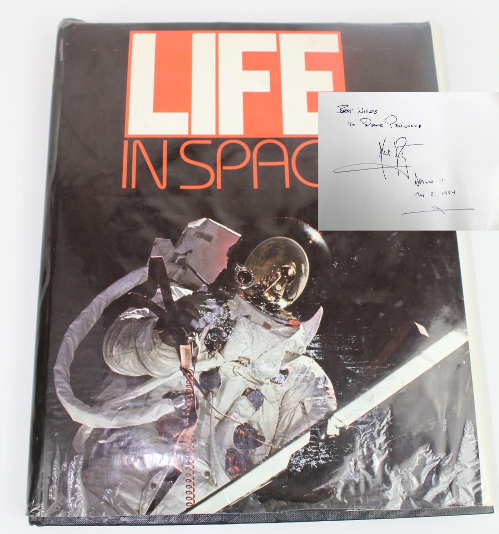 Life In Space, Signed by Neil Armstrong