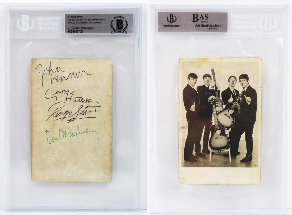 The Beatles Signed Vintage Photo Circa 1962,