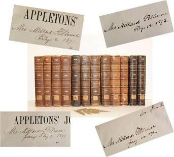 Millard Fillmore Inscribed Set of 12 Fine Bindings of