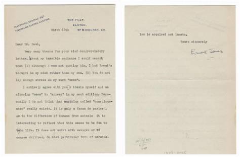 Ernest Jones Muses On Sigmund Freud